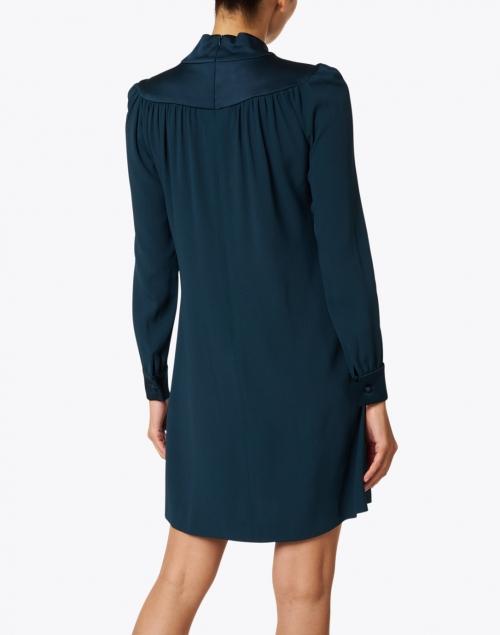 Jane - Marianne Evergreen Cady Neck Tie Dress