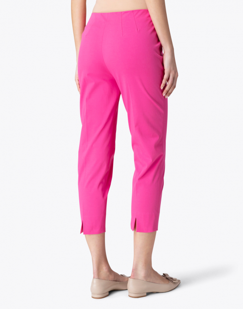 Leggiadro - Passion Pink Stretch Cotton Slim Fit Capri
