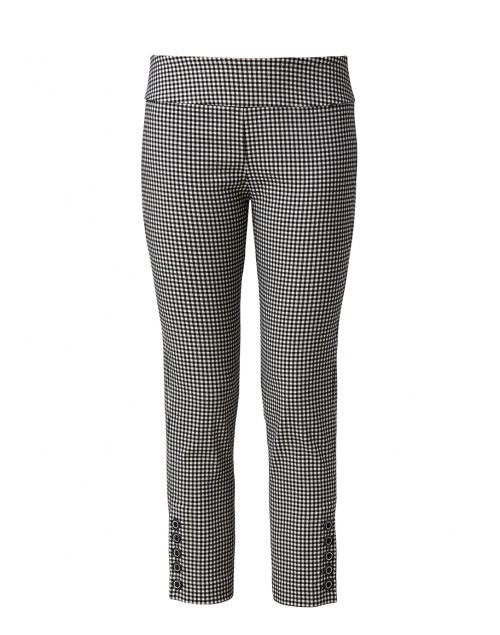 Elliott Lauren - Black and White Gingham Stretch Crop Pant