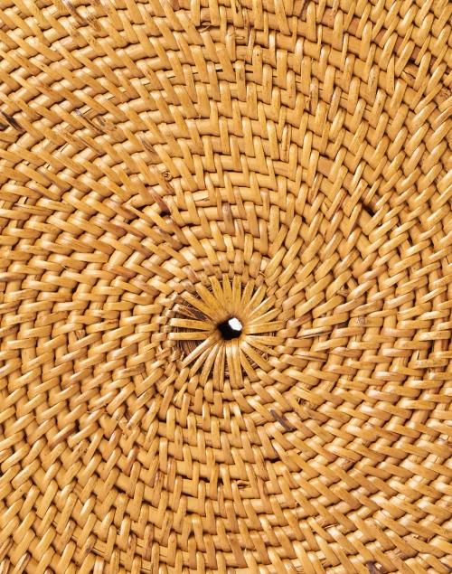 Bembien - Rose Natural Rattan Circle Crossbody Bag