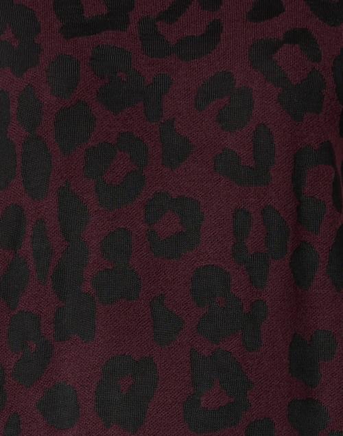 Marc Cain - Plum and Black Animal Print Sweater