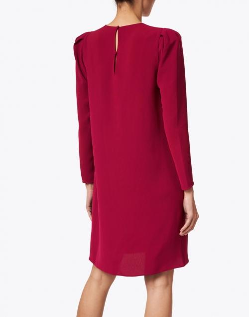 Lafayette 148 New York - Gia Hibiscus Magenta Crepe Dress