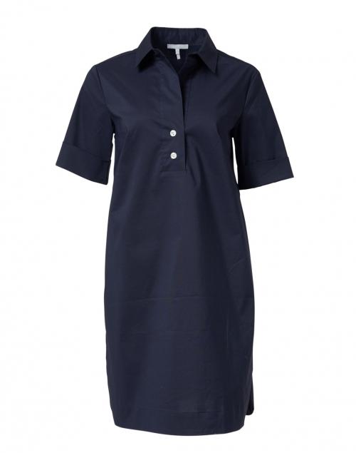 Hinson Wu Aileen Navy Stretch Cotton Dress