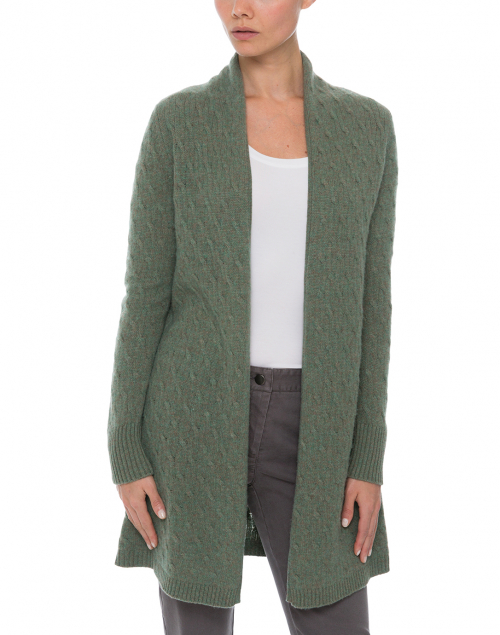Cortland Park - Sophie Green Cable Knit Cardigan
