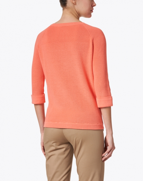 Kinross - Coral Pima Cotton Shaker Sweater