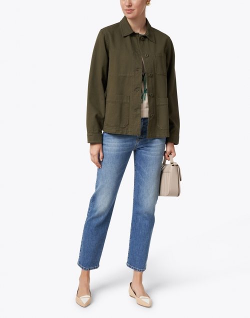 Weekend Max Mara - Sergio Olive Green Cotton Collared Jacket