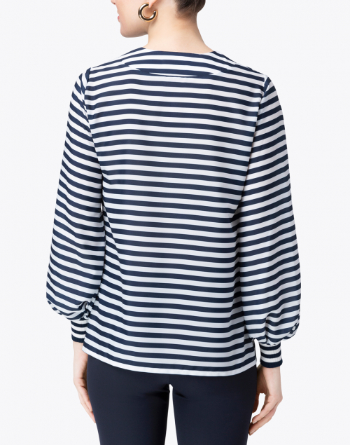 Weill - Malvina Navy and White Striped Blouse