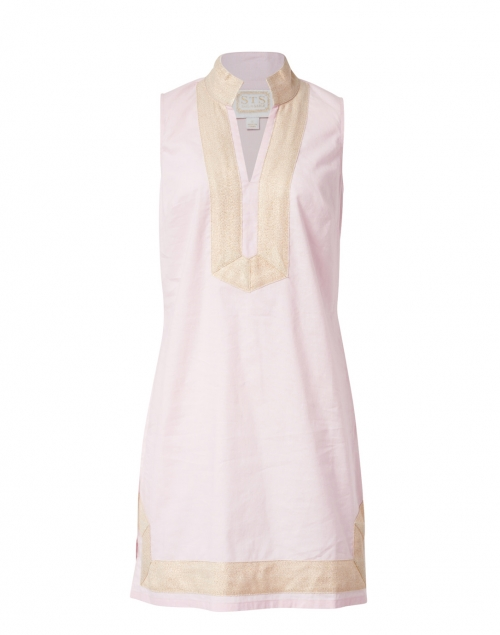 Sail to Sable - Blush Pink Stretch Linen Classic Tunic Dress