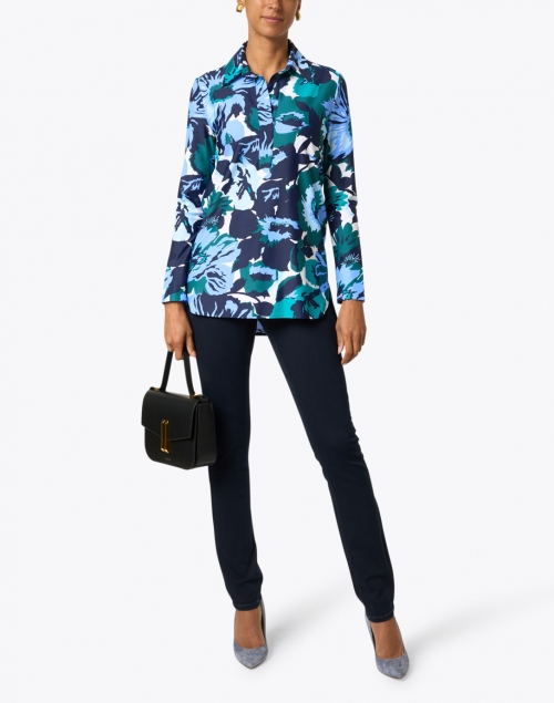 Jude Connally - Hadley Blue and Jade Floral Top