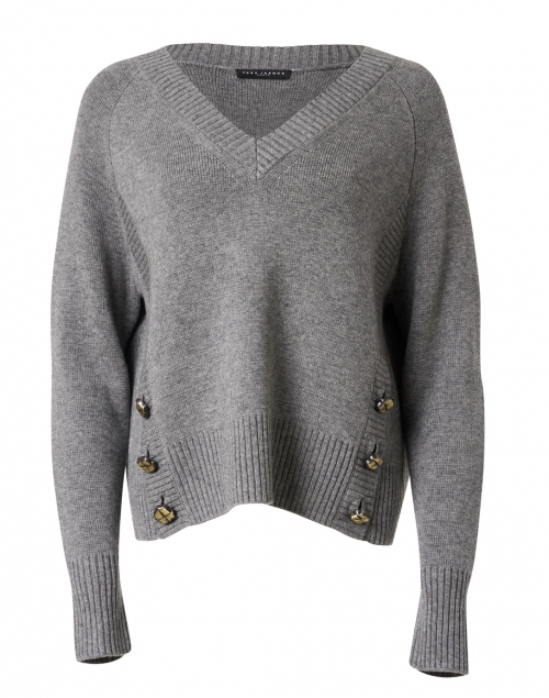 Tara Jarmon Promesse Grey Wool Blend Sweater