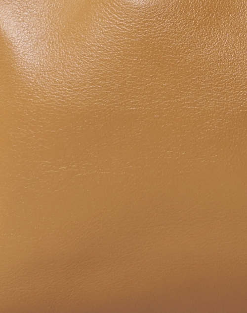 DeMellier - Los Angeles Deep Toffee Smooth Leather Ruched Tote