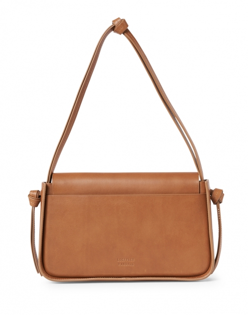 Loeffler Randall - Maggie Cognac Leather Snap Closure Shoulder Bag