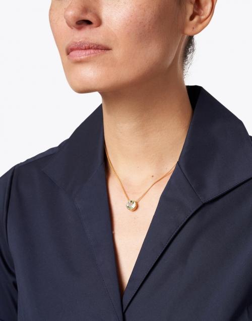 Dean Davidson - Green Amethyst Gold Pendant Necklace