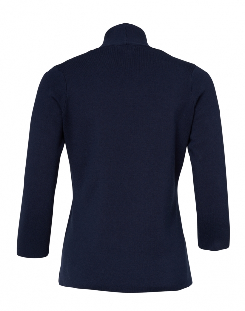 J'Envie - Navy Stretch Cotton Cardigan Top