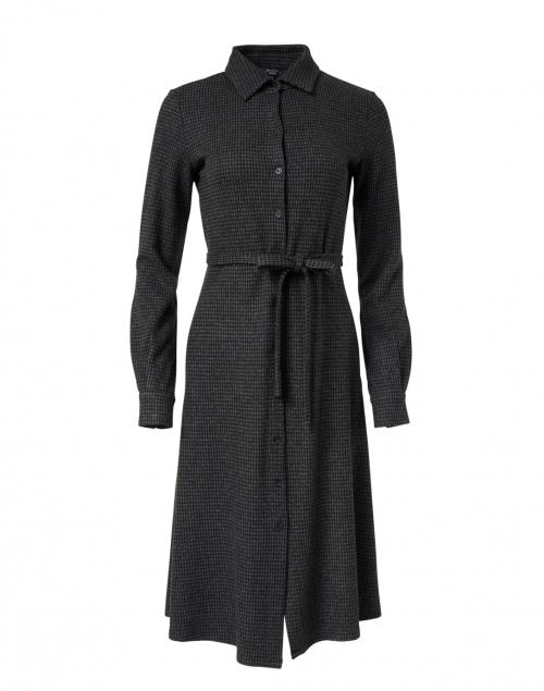 Weekend Max Mara Alloro Grey and Black Houndstooth Shirt Dress