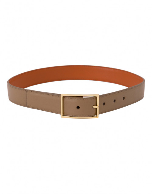 W. Kleinberg - Tangerine and Camel Reversible Leather Belt