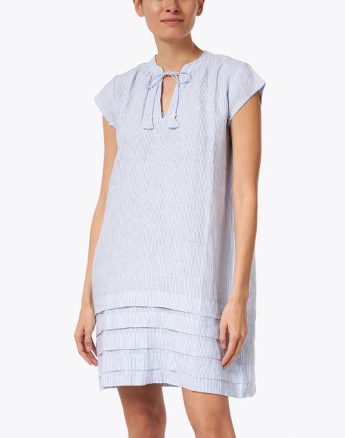 Pomegranate - Blue Stripe Cotton Dress