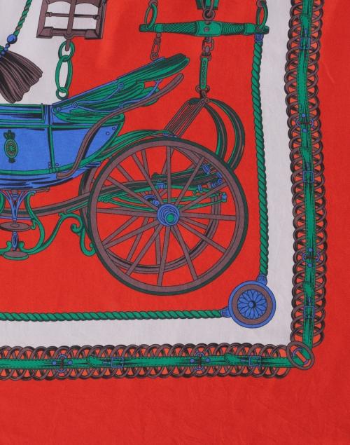 Franco Ferrari - Maggiorelo Multicolor Chain Link Print Silk Double Face Scarf