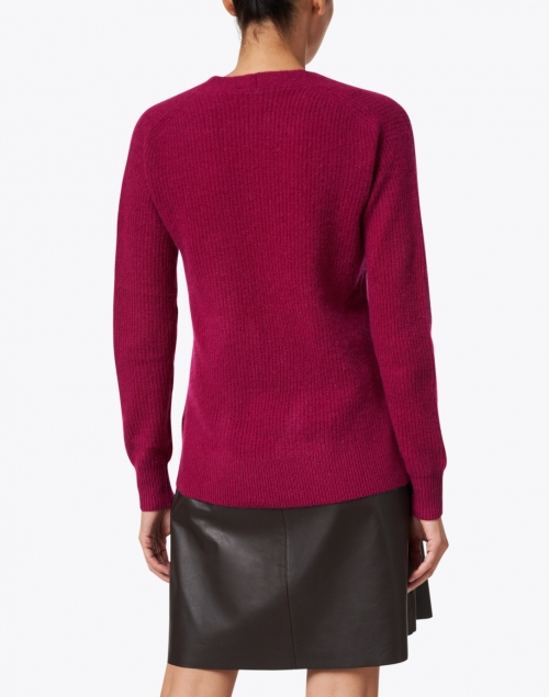 White + Warren - Dark Cherry Cashmere Sweater