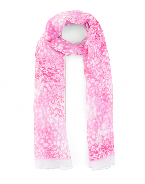 Leggiadro - Pink Florettes Print Linen Blend Scarf