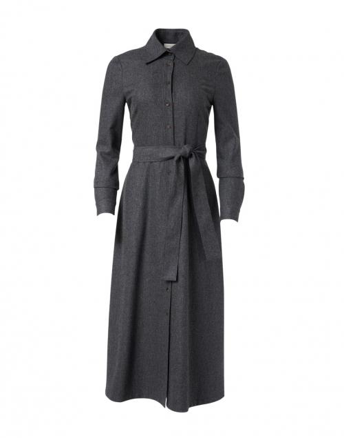 Lafayette 148 New York Adair Flint Melange Flannel Shirt Dress