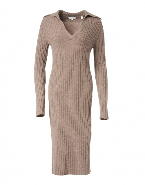 Vince Maple Wool Cashmere Ribbed Polo Dress