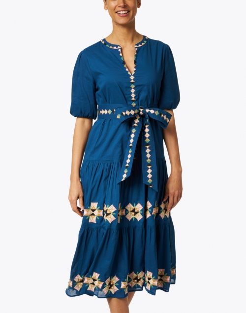 Roller Rabbit - Valonia Navy Embroidered Cotton Dress
