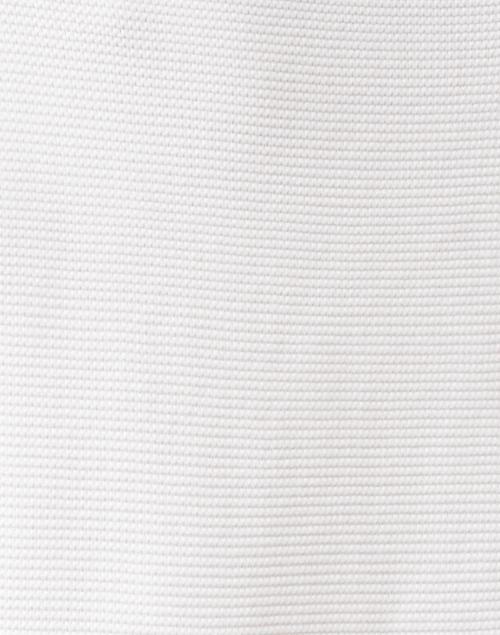 Kinross - Winter White Garter Stitch Cotton Sweater
