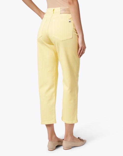 Weekend Max Mara - Reseda Yellow Stretch Denim Straight Leg Jeans