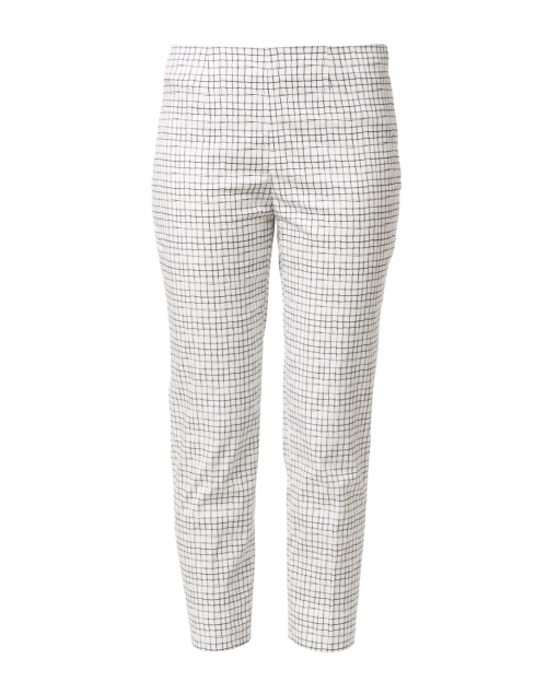Piazza Sempione - Audrey White and Black Window Pane Stretch Cotton Pant