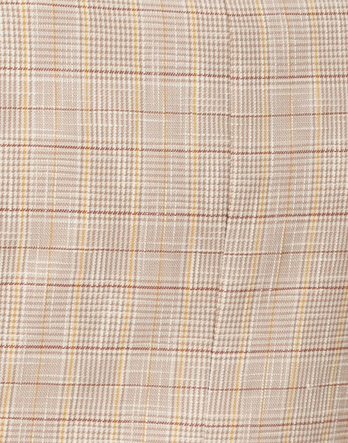 Veronica Beard - Louanne Khaki, Brown and Yellow Checked Cotton Jacket