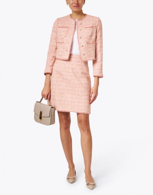 L.K. Bennett - Celeste Pink Cotton Tweed Jacket