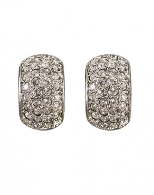 Jennifer Behr - Liesel Crystal Antique Silver Mini Hoop Earring