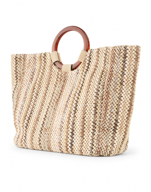Casa Isota - Carlotta Beige Multi Woven Cotton Handbag