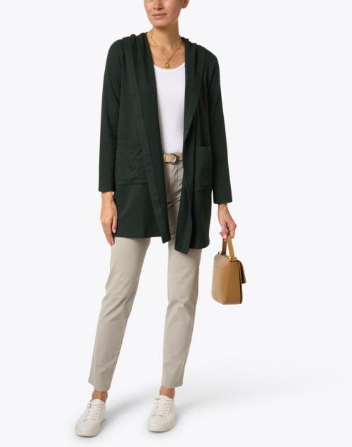 Eileen Fisher - Ivy Green Cotton Fleece Jacket