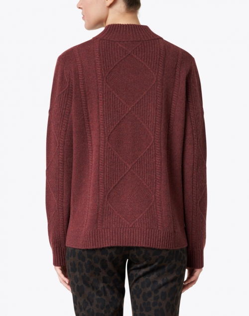 Repeat Cashmere - Burgundy Diamond Stitch Cashmere Sweater