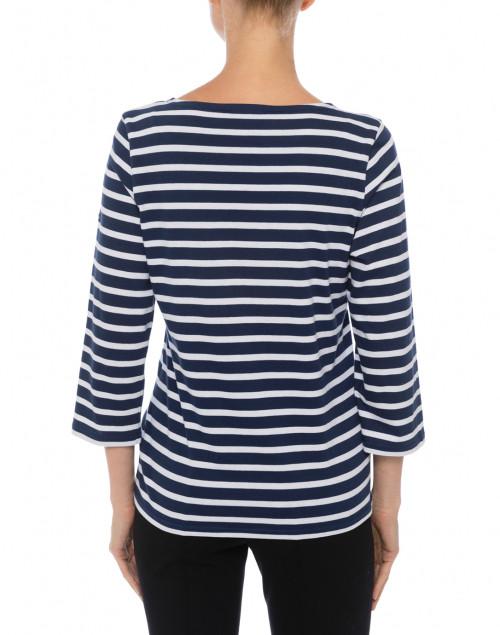 Saint James - Galathee Navy and White Striped Shirt