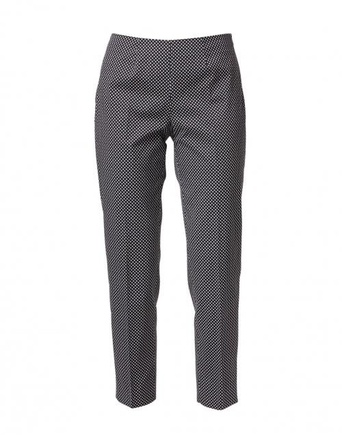 Piazza Sempione - Monia Black and White Dot Print Stretch Cotton Pant