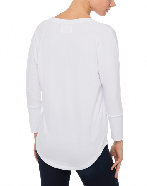 Southcott - White Scoop Neck Bamboo-Cotton Top