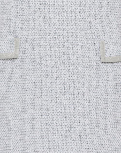 Amina Rubinacci - Anfora Green and White Cotton Tweed Dress
