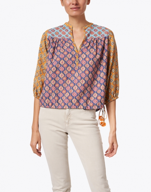 Megan Park - Azra Multi Buttie Print Peasant Top