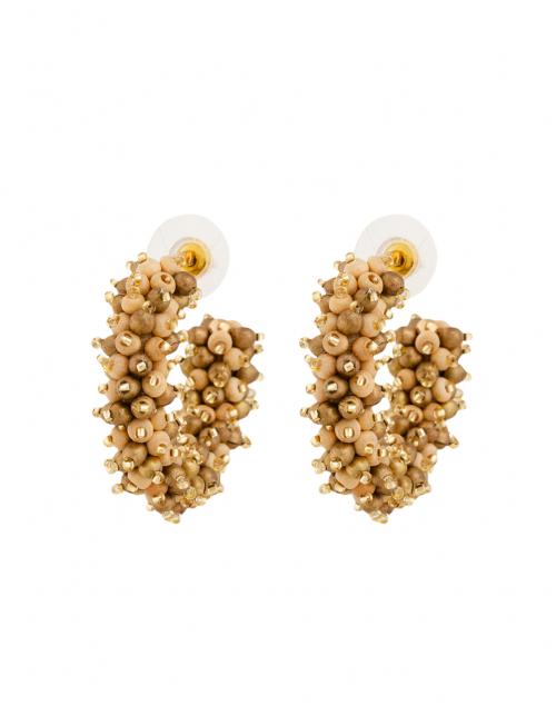 Mignonne Gavigan - Taylor Brown and Gold Mini Hoop Earrings