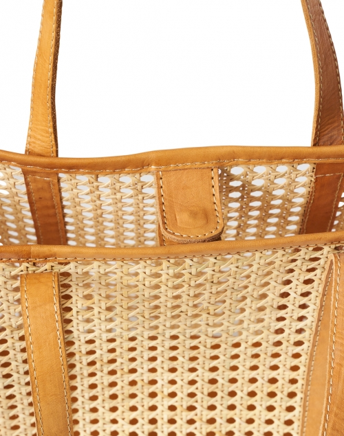 Bembien - Margot Natural Rattan and Caramel Leather Tote