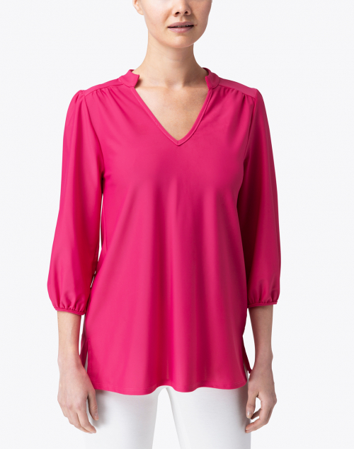 Jude Connally - Nadia Pink Ruched Top