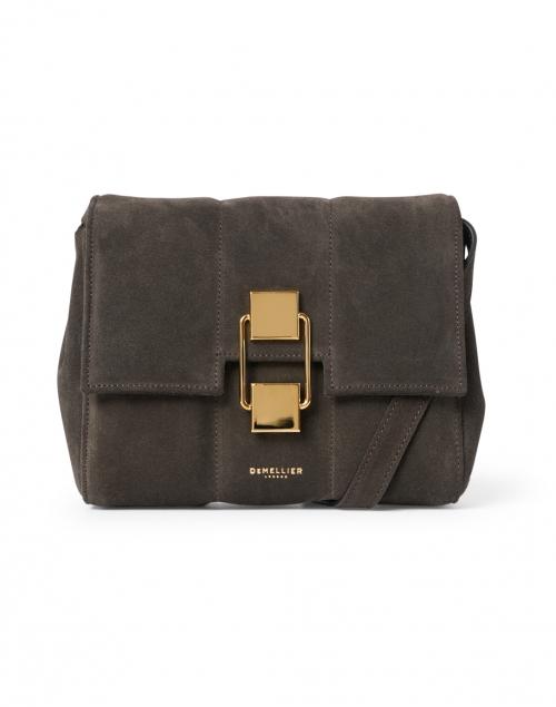 DeMellier Mini Alexandria Espresso Suede Leather Crossbody Bag