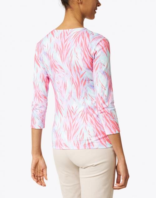 Leggiadro - Coral Wispy Tiger Print Cotton Jersey Tee