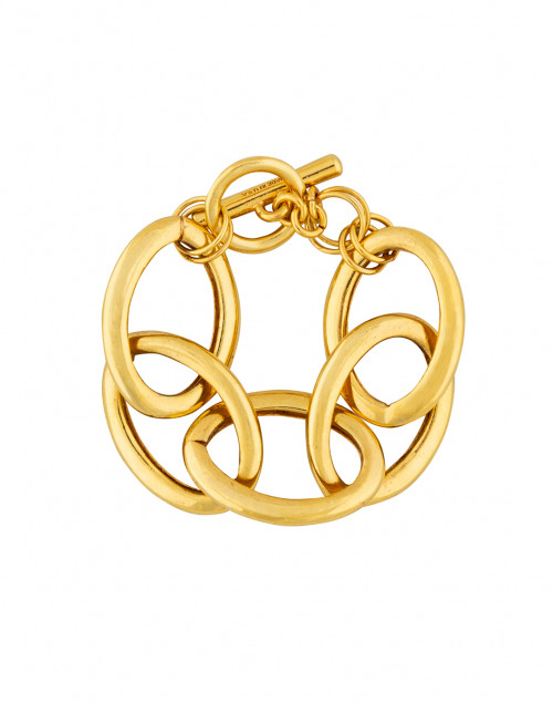 Oscar de la Renta Gold Oversized Chain Link Bracelet
