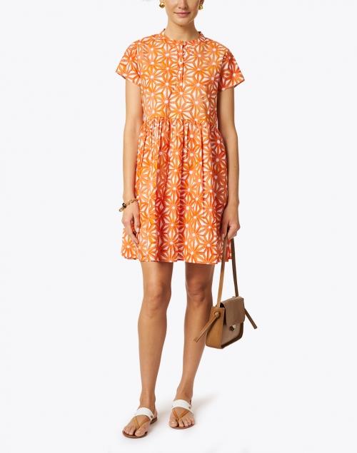 Ro's Garden - Feloi Orange Floral Printed Cotton Dress