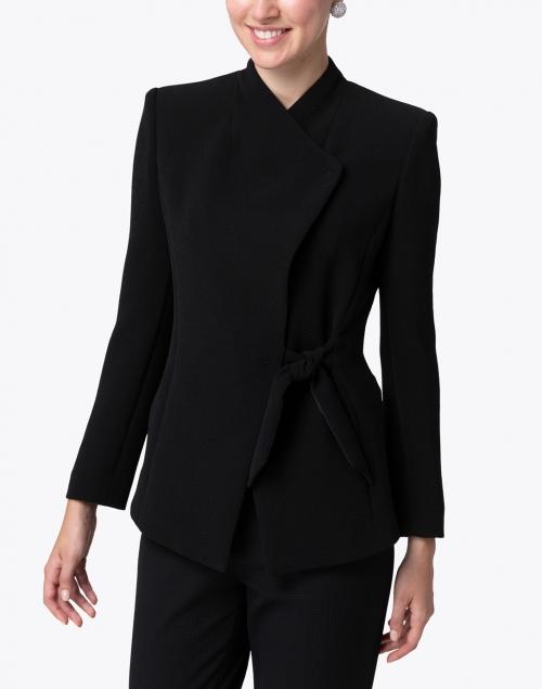 Emporio Armani - Black Crepe Asymmetrical Blazer