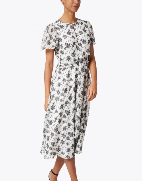 Shoshanna - Alita Black and White Floral Print Dress